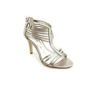 Alfani Zinc Lumi Caged Strappy Sandals
